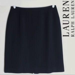 LAUREN Ralph Lauren Black Wool Pencil Skirt